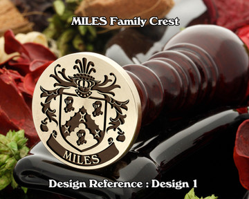 Miles Family Crest Wax Seal Stamp D1