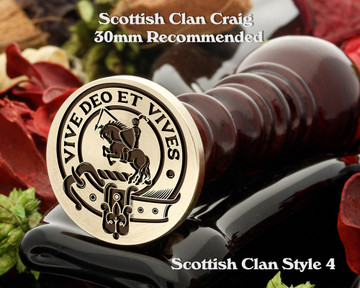 Craig Scottish Clan Wax Seal D4