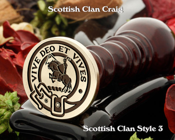 Craig Scottish Clan Wax Seal D3