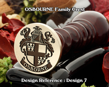 OSBORNE Family Crest Wax Seal Stamp D7