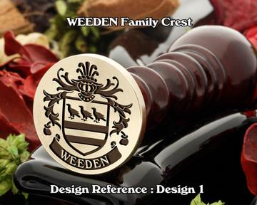 WEEDEN Family Crest Wax Seal D1