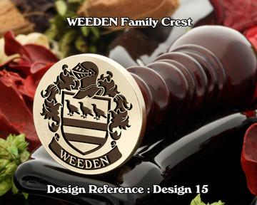 WEEDEN Family Crest Wax Seal D15