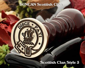 DUNCAN Scottish Clan Wax Seal D3