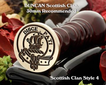 DUNCAN Scottish Clan Wax Seal D4