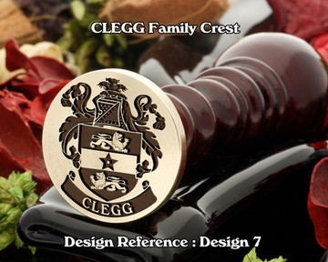 CLEGG Family Crest Wax Seal D7