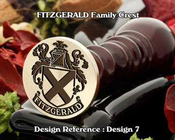 FITZGERALD Family Crest Wax Seal D7