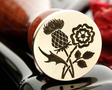 Thistle and Rose Wax Seal D2