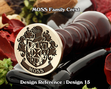 MOSS Family Crest Wax Seal D15