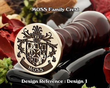 MOSS Family Crest Wax Seal D1