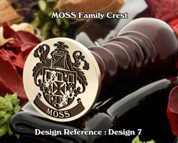 MOSS Family Crest Wax Seal D7