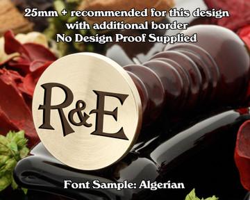 Algerian Initial Wax Seal example R&E