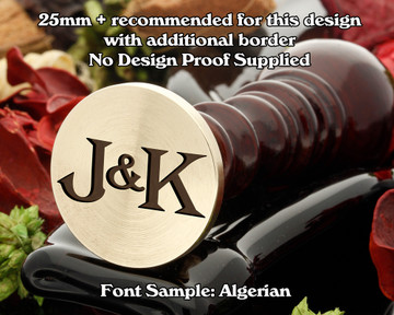 Algerian Initial Wax Seal example J&K