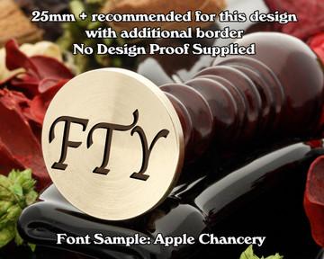 Apple Chancery Three Initial Wax Seal