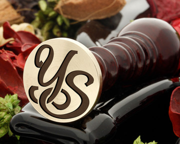 YS Wax Seal Monogram (photo reversed)