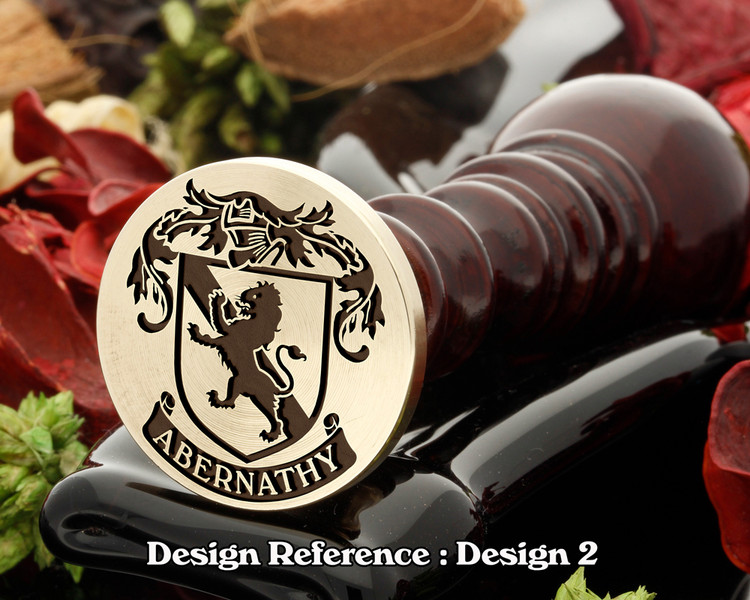 Abernathy Family Crest Wax Seal D2