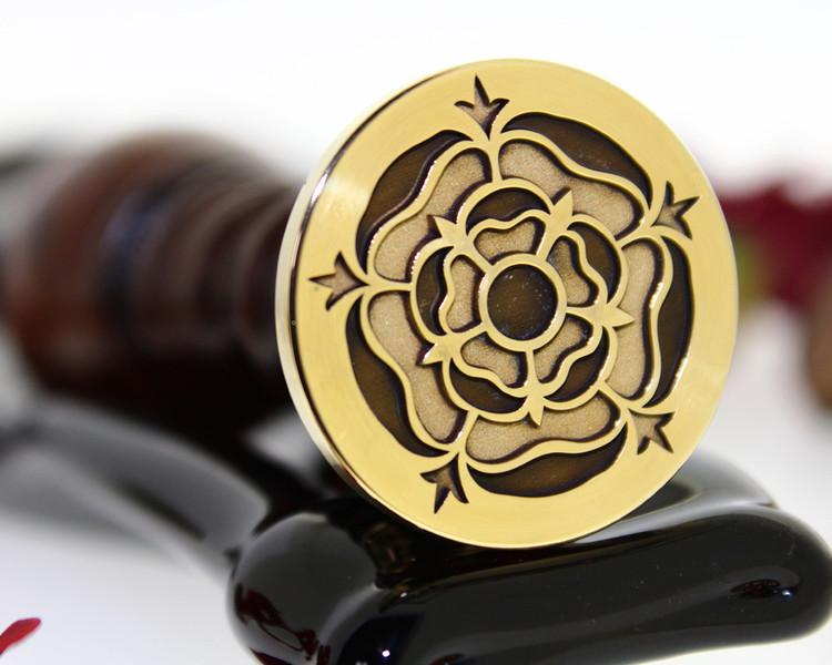 Tudor Rose Wax Seal Stamp, Laser Engraved