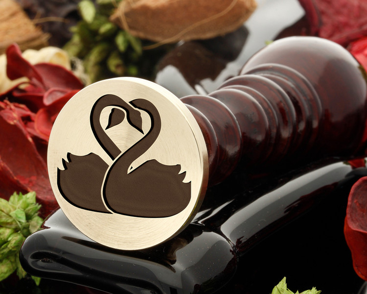 Love swans D2 wax seal