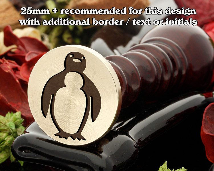 Single Penguin Wax Seal Stamp