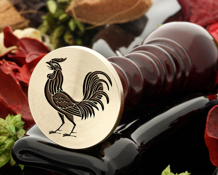 Rooster 1A wax seal