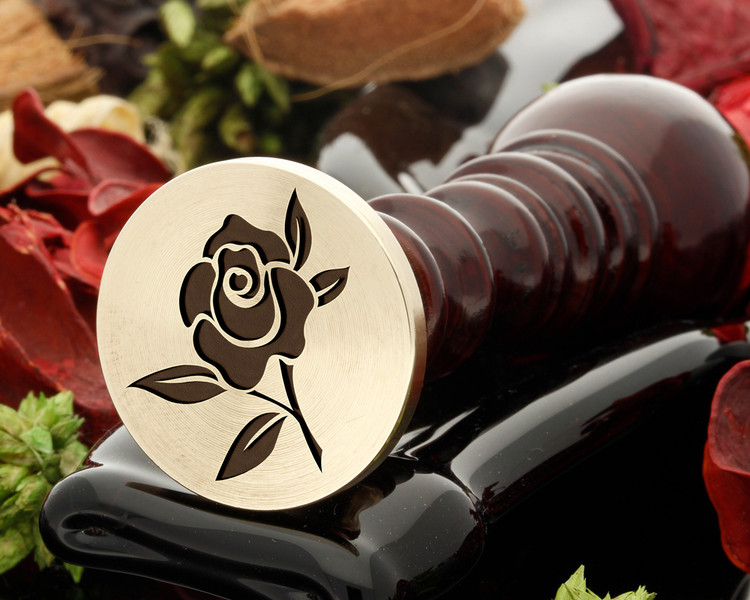 Rose 1 wax seal