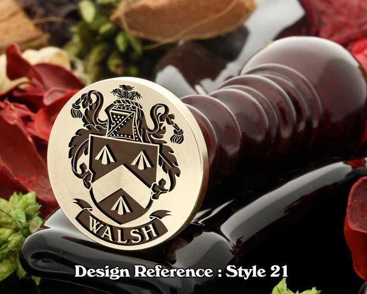 Walsh Family Crest Wax Seal D21