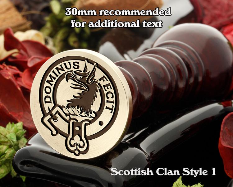 Baird Scottish Clan Wax Seal D1