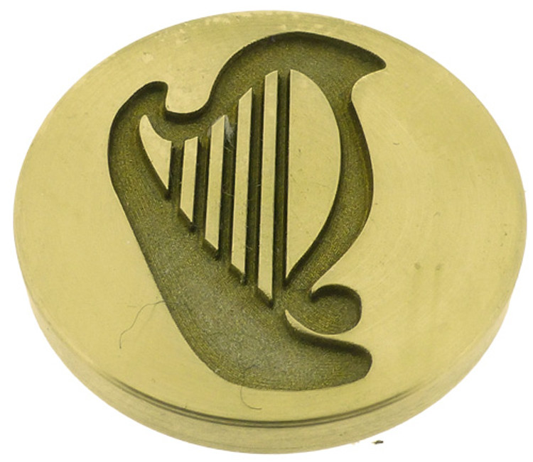 Design 1 - engraving of Irish harp, photo reversed.