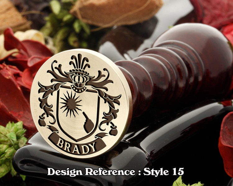 Brady Family Crest Wax Seal D15