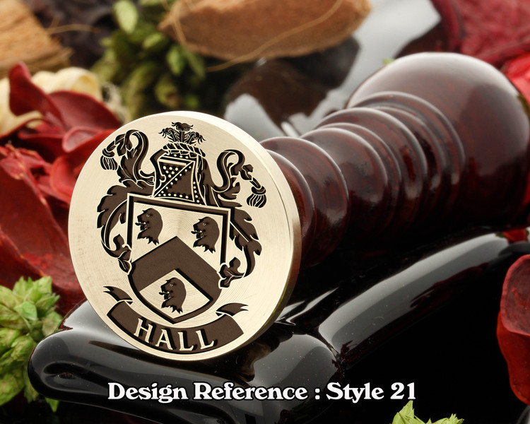 Hall Family Crest Wax Seal D21
