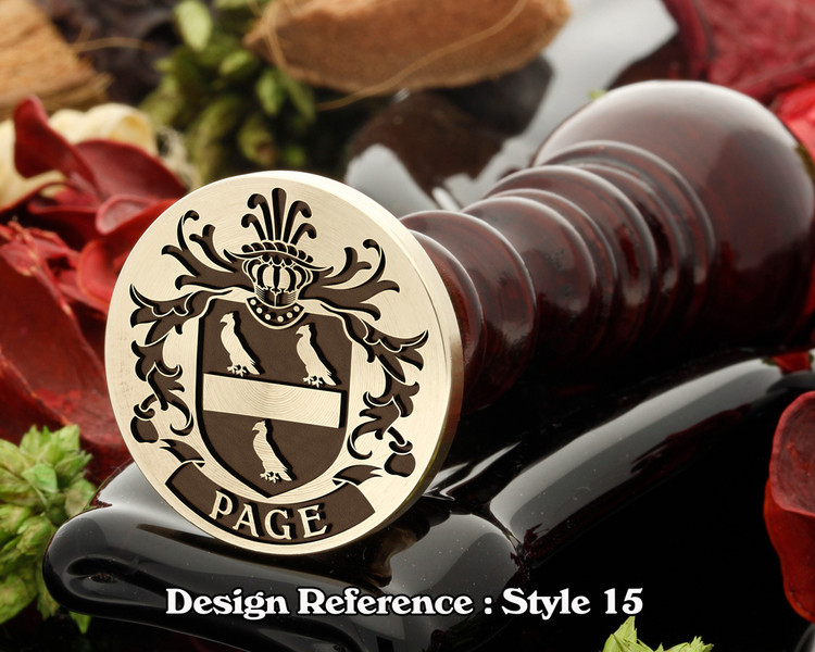 Page Family Crest Wax Seal D15