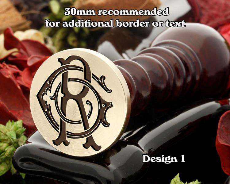 GR RG Victorian Monogram D1 Wax Seal