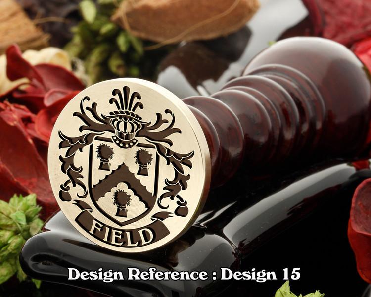 Field Family Crest Wax Seal D15