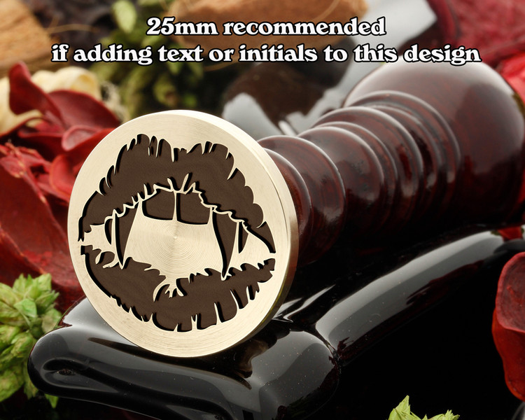 Vampire Lips Wax Seal Stamp