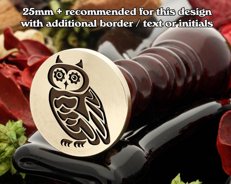 Steampunk Owl D1 wax seal