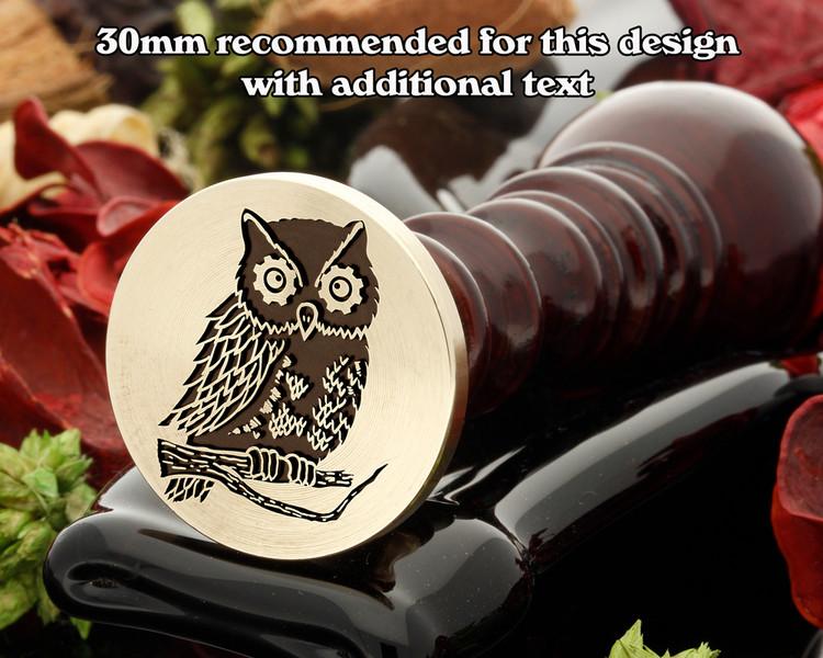 Steam Punk Owl - hand drawn design