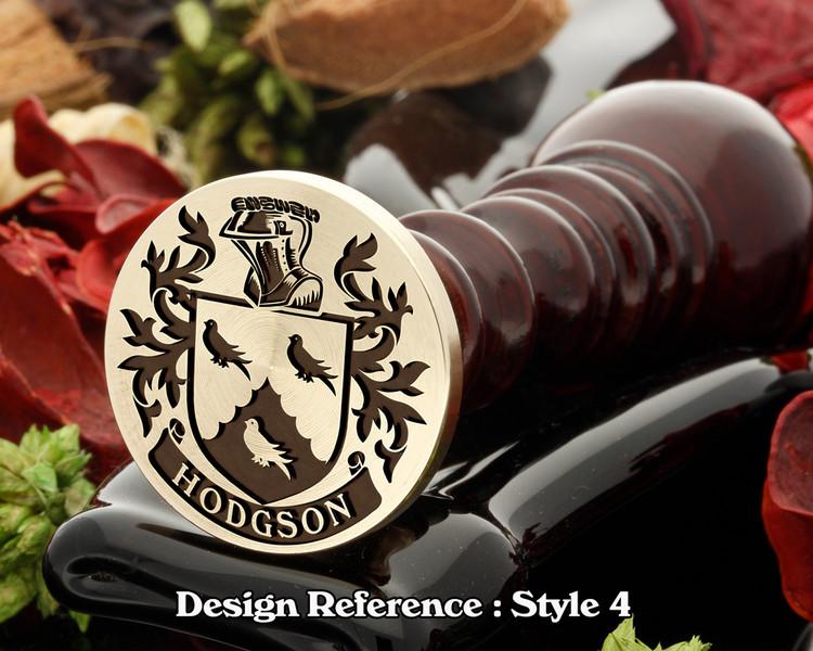 Hodgson family crest wax seal