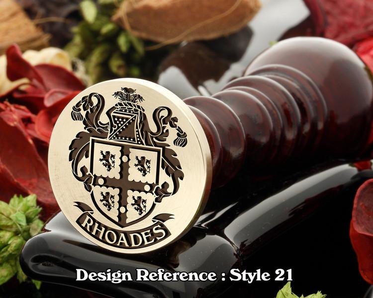 Rhoades Family Crest Wax Seal D21