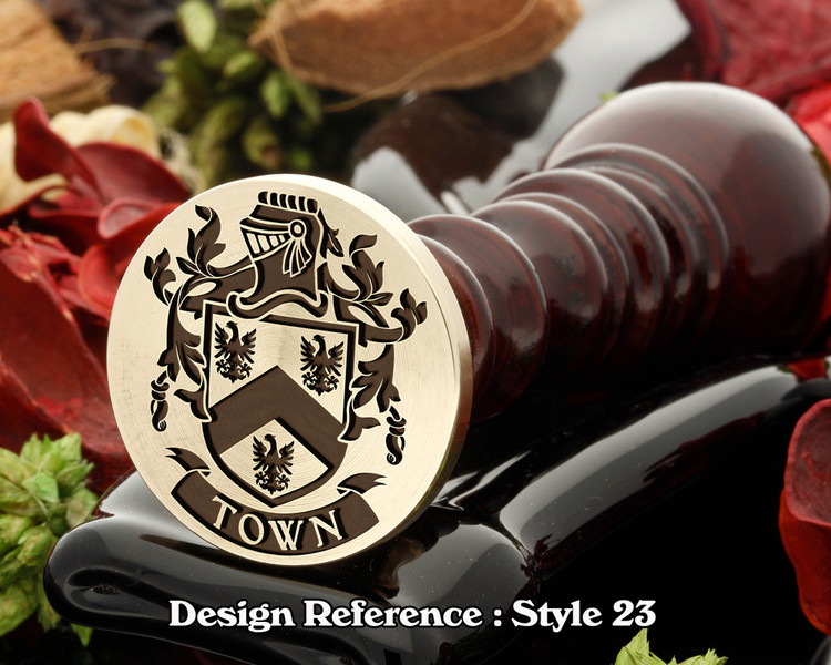 Town Family Crest Wax Seal D23