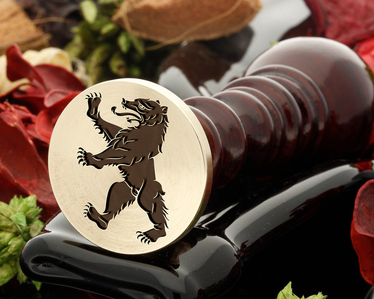 Bear Rampant wax seal