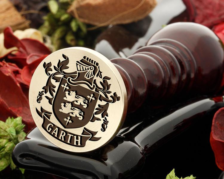 Garth Family Crest Wax Seal D23
