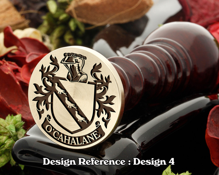 O'Cahalane Family Crest Wax Seal D4