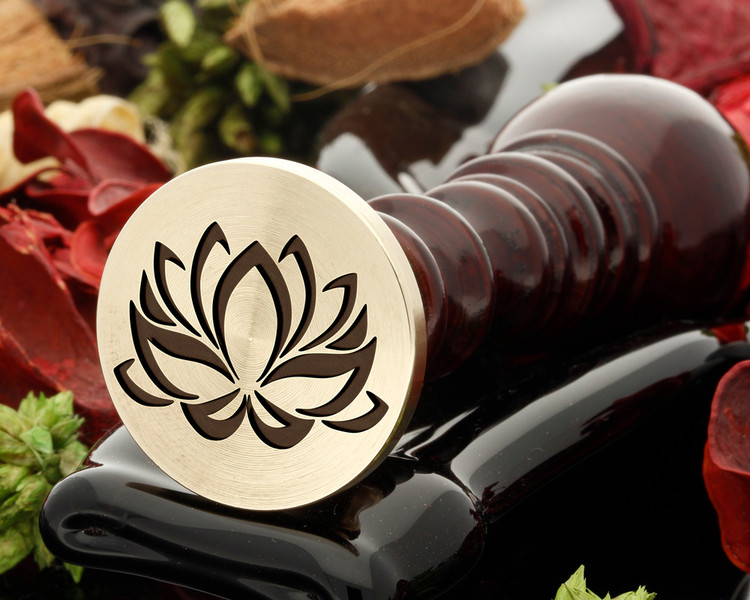 Lotus Flower D1 wax seal stamp