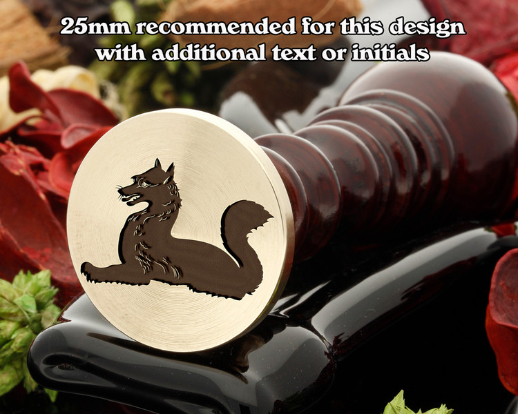 Heraldry Fox Couchant Wax Seal Stamp