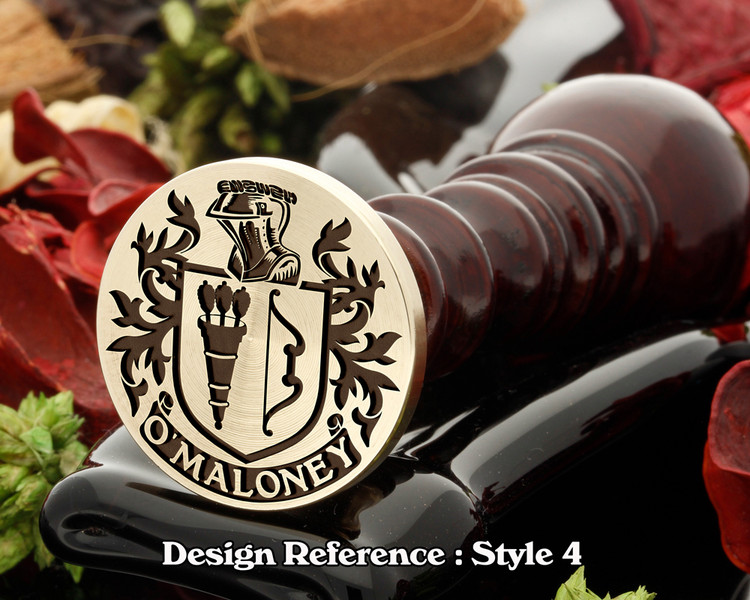 O'Maloney Family crest wax seal D4