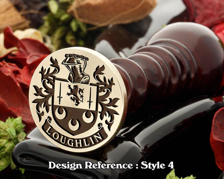 Loughlin family crest wax seal D4