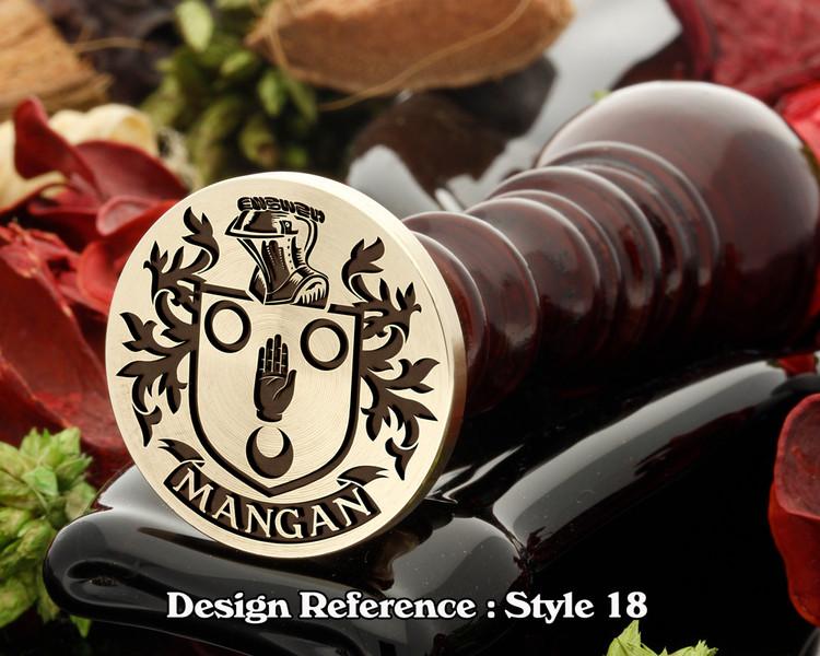 Mangan family crest wax seal D18
