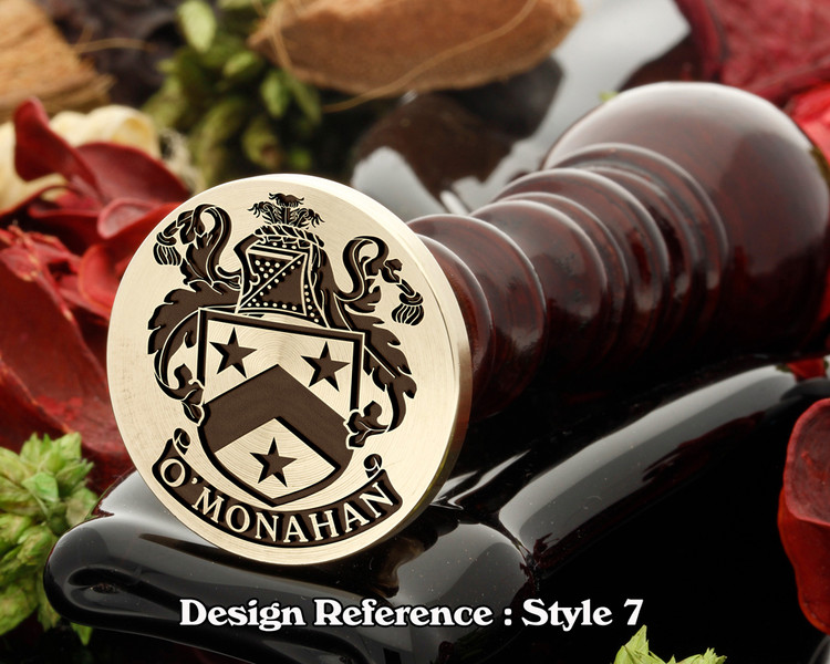 O'Monahan Family Crest Wax Seal D7