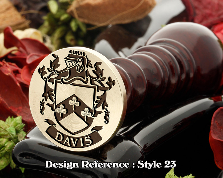 Davis  Family Crest Wax Seal D23