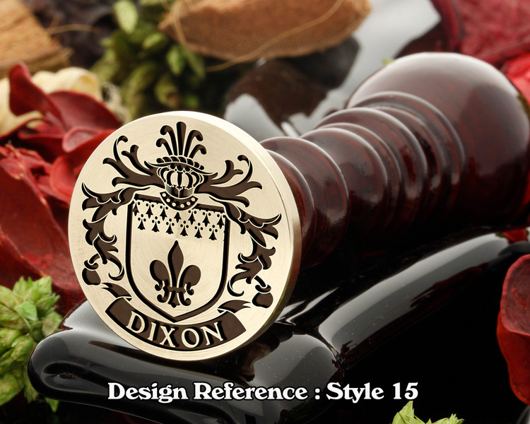 Dixon Family Crest Wax Seal D15