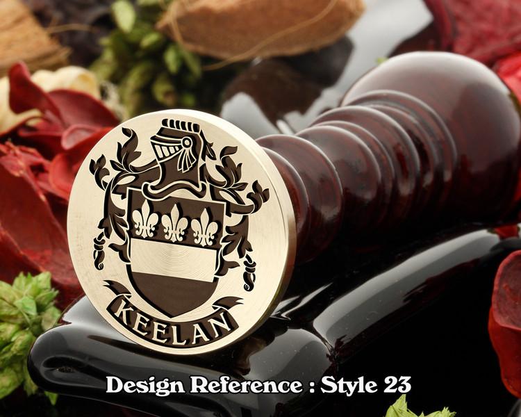Keelan Family Crest Wax Seal D23